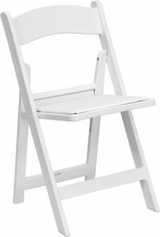 Where to find CHAIR, WHITE PADDED SEAT in Falmouth