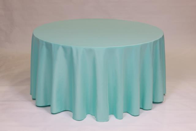 Where to find AQUA, 90  ROUND TABLECLOTH in Falmouth