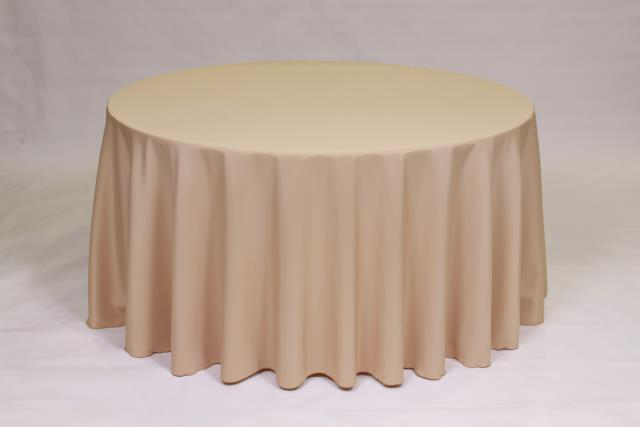 Where to find CAMEL, 90  ROUND TABLECLOTH in Falmouth