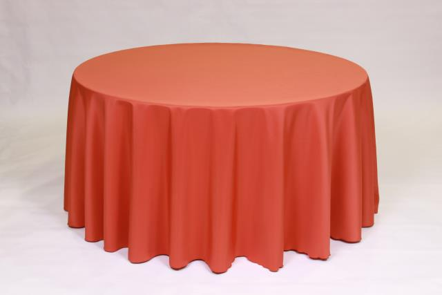 Where to find BURNT ORANGE, 90  ROUND TABLECLOTH in Falmouth