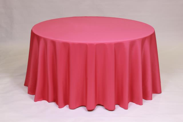Where to find HOT PINK, 108  ROUND TABLECLOTH in Falmouth