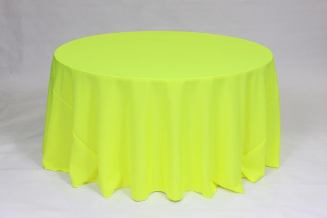 Where To Rent TABLECLOTH, ROUND 132 NEON YELLOW In Falmouth Massachusetts,  Cape Cod,