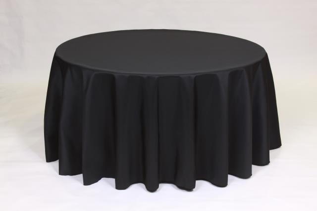 Where to find BLACK, 90  ROUND TABLECLOTH in Falmouth