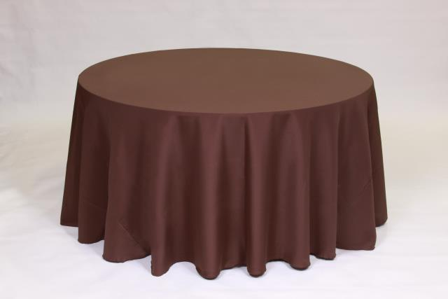 Where to find CHOCOLATE, 120  ROUND TABLECLOTH in Falmouth