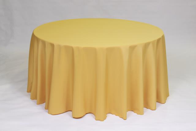 Where to find GOLD, 120  ROUND TABLECLOTH in Falmouth