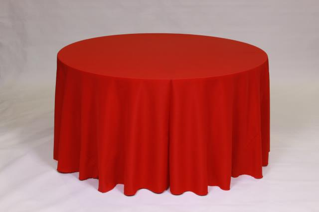 Where to find HOLIDAY RED, 120  ROUND TABLECLOTH in Falmouth