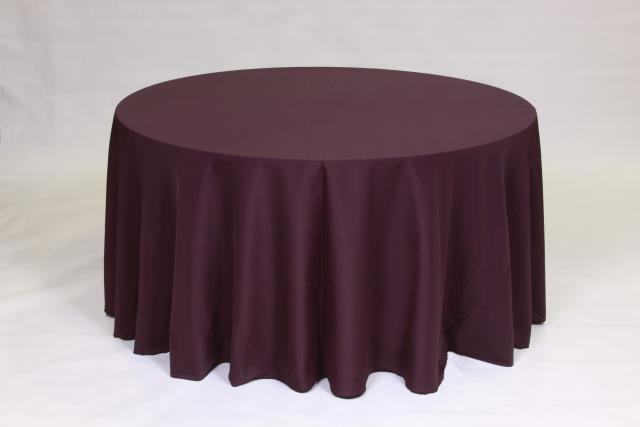 Where to find EGGPLANT, 120  ROUND TABLECLOTH in Falmouth
