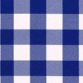 Rental store for BLUE CHECK, 120  ROUND TABLECLOTH in Falmouth MA